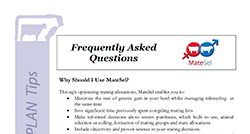 MateSel Frequently Asked Questions