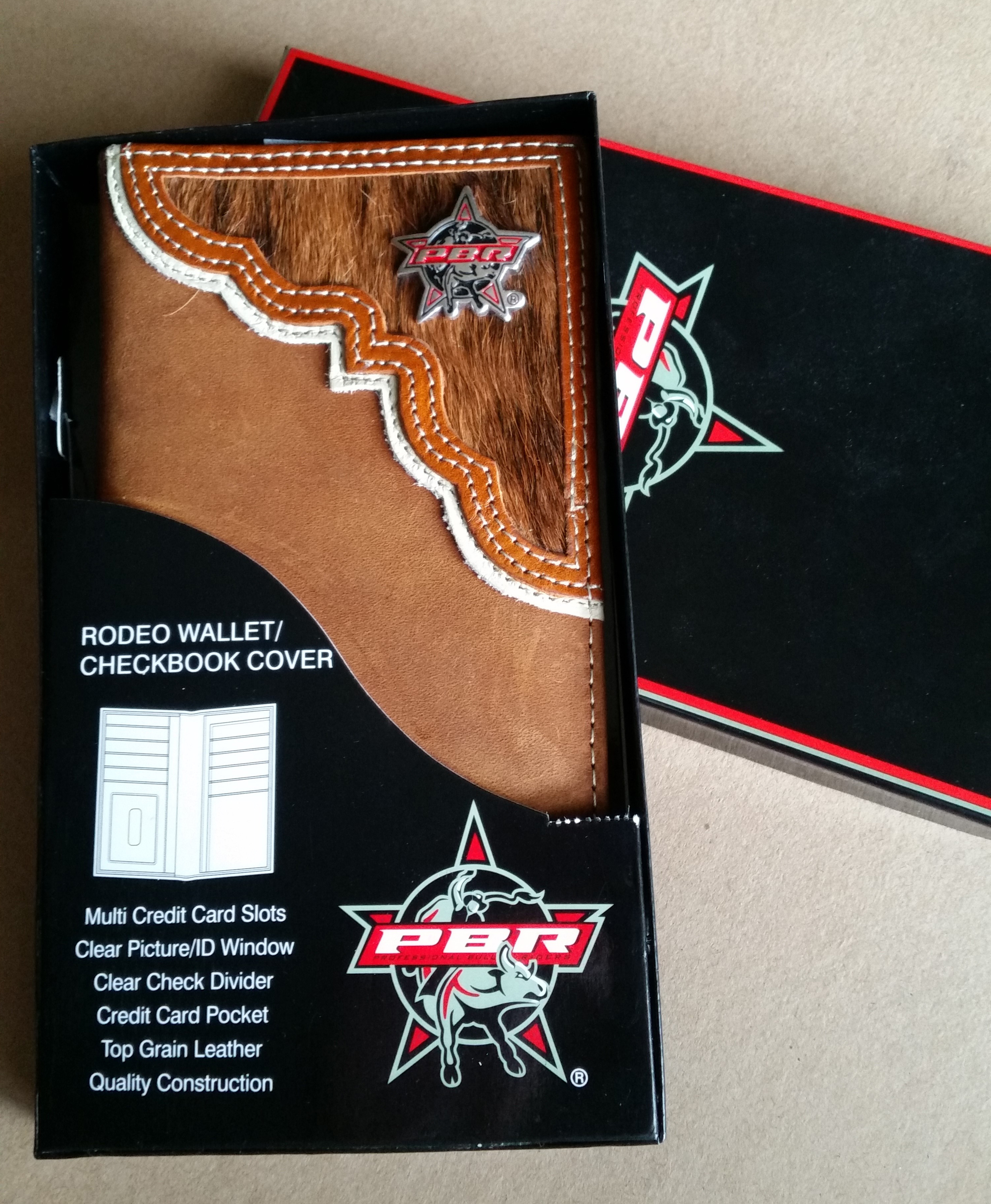 Wallet donated by Mark and Lynn Fairlie