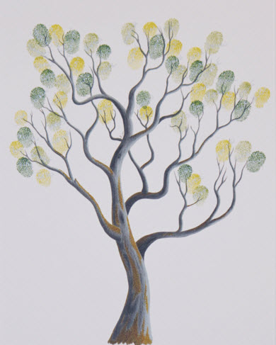 Finger Print Tree donated by Bronwyn Halliday
