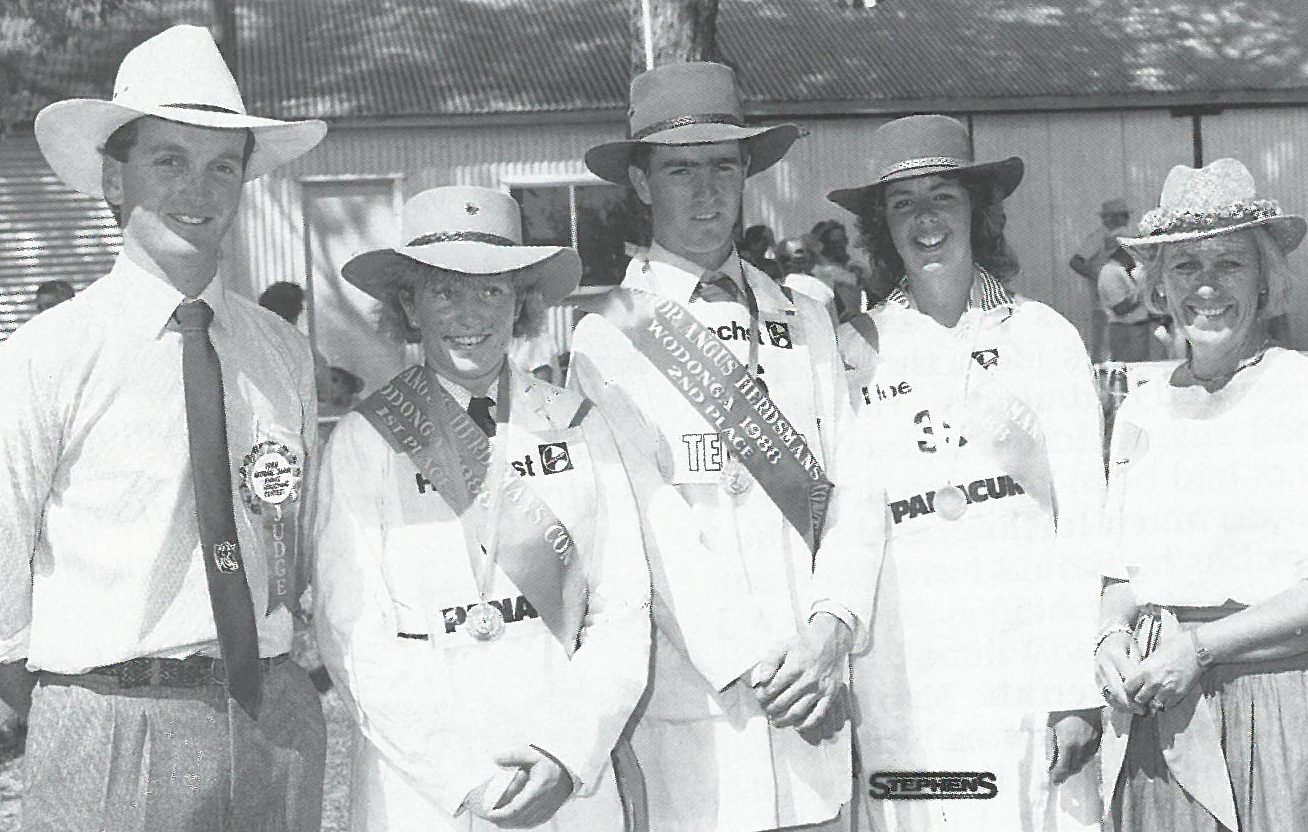 Lisa Sutherland 1988 (pictured with fellow finalists Donald Patch and Noeleen Branson (nee Anderson) with judge Peter Moir and Mrs Jill Raff)