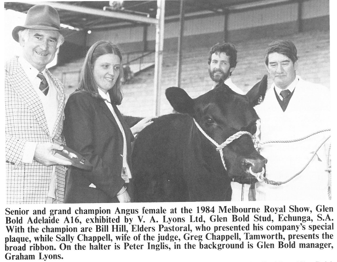 Peter Inglis 1983 (right) with Bill Hill, Sally Chappell and Graham Lyons