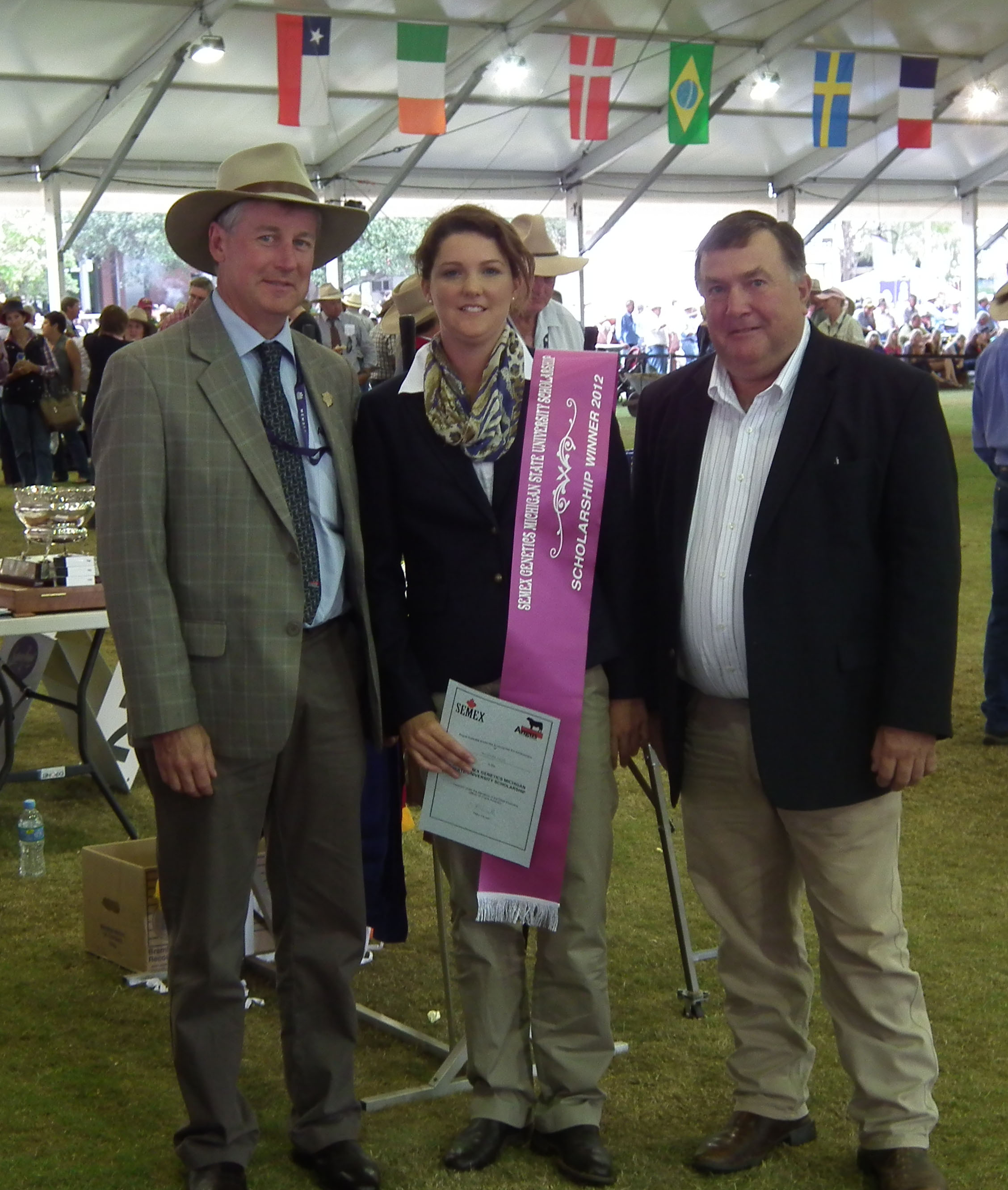 Peter Parnell with Amanda Giles 2012 and Jim Conroy