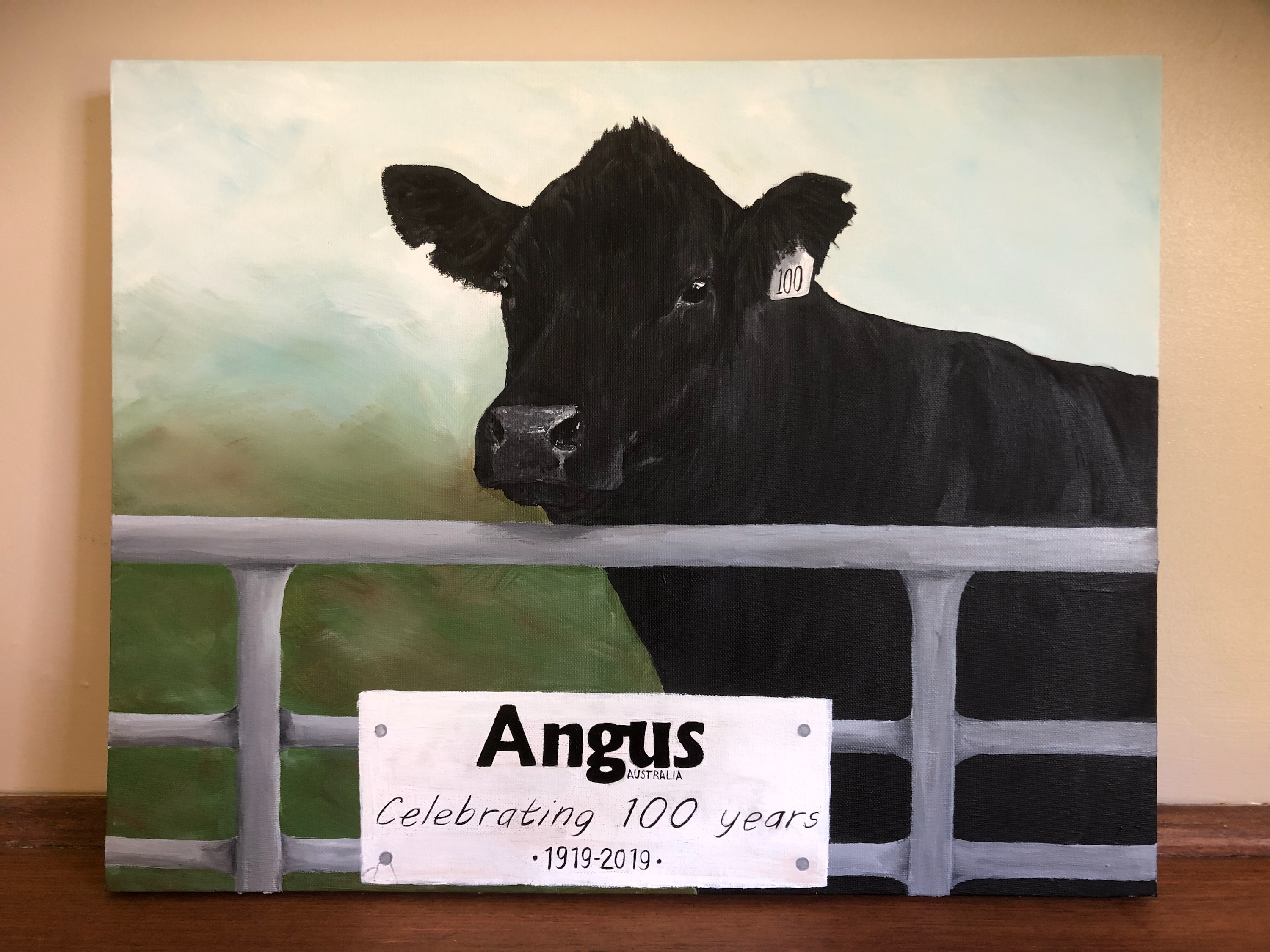 Canvas Painting with 100 year reference - Donated by Caitlyn Martin