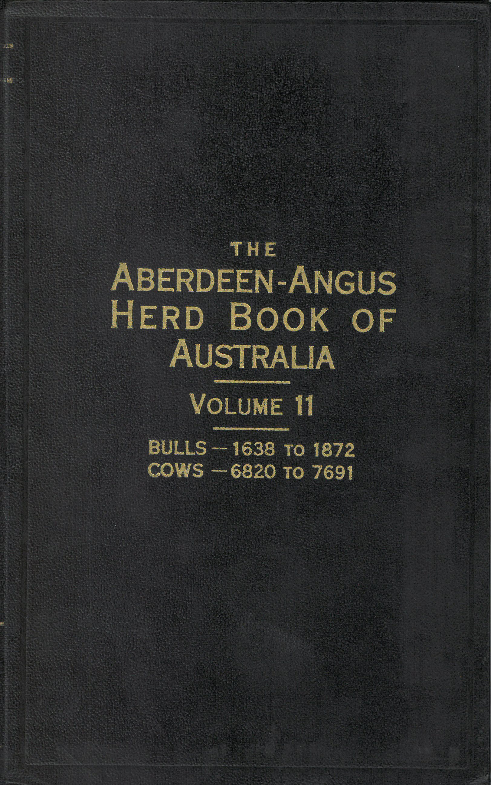 The Aberdeen-Angus Herd Book 11 Cover