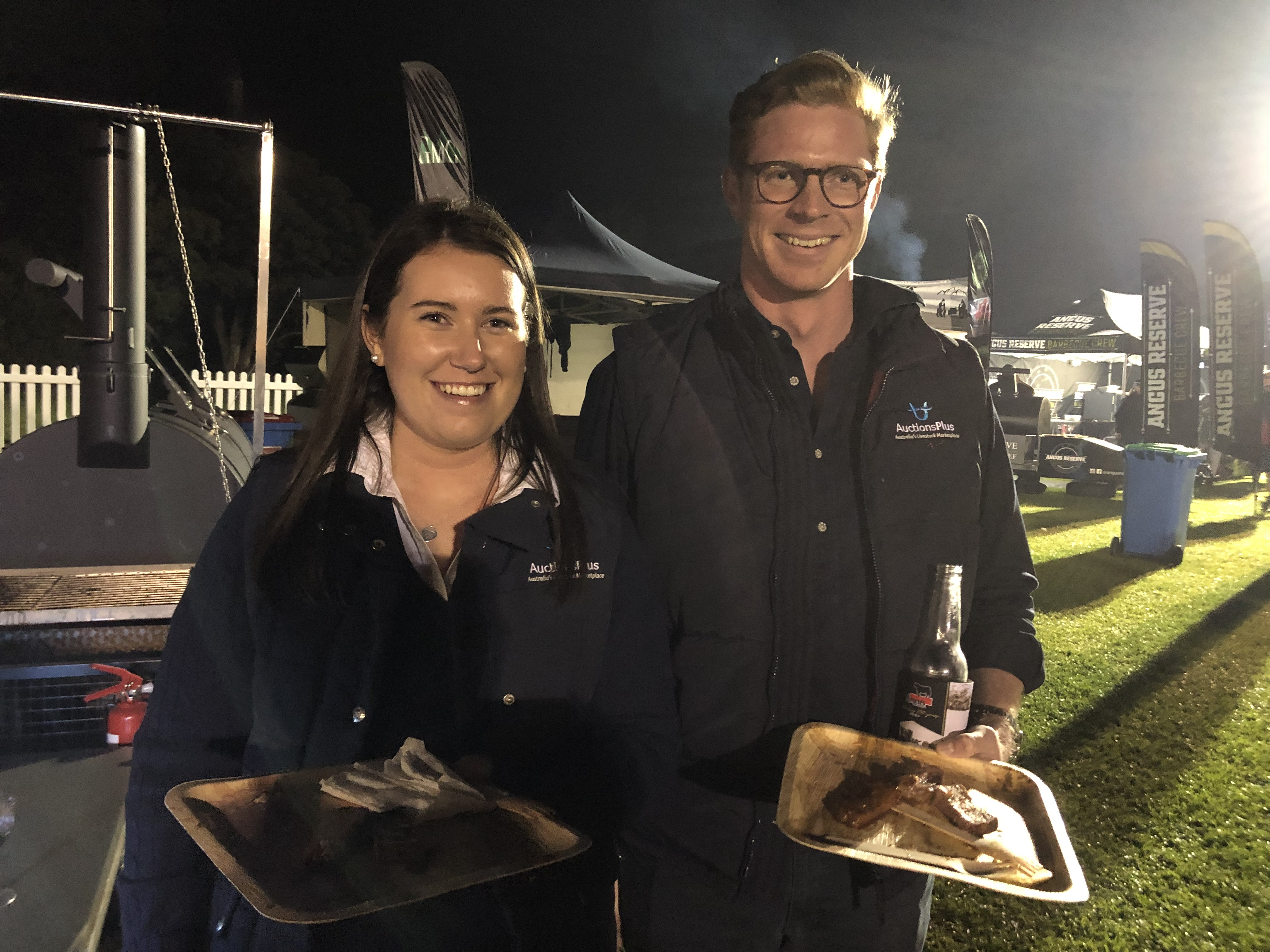 Hannah Bird and Hamish Cooke of AuctionsPlus enjoying the dinner