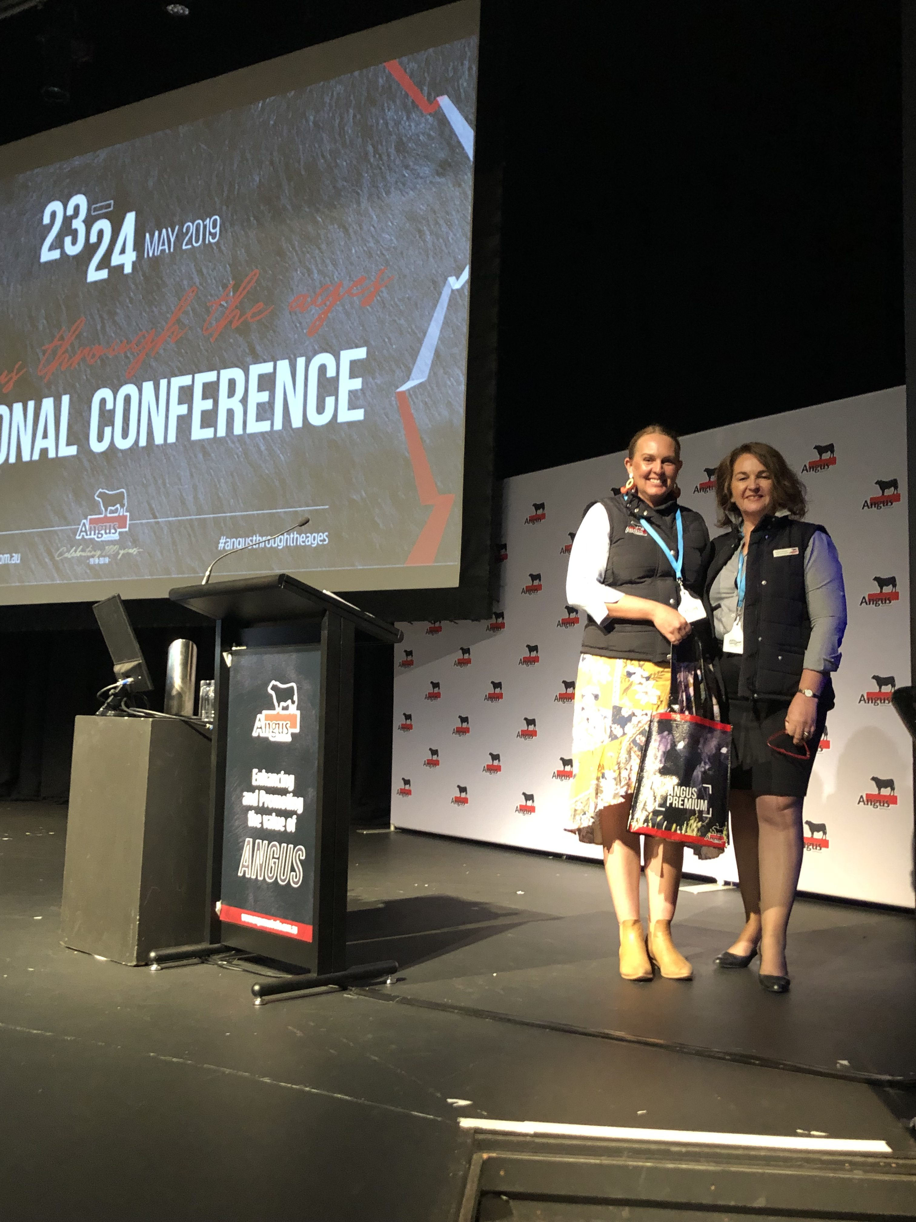 Robyn Brazier with Diana Wood, Marketing and Communications Manager, Angus Australia