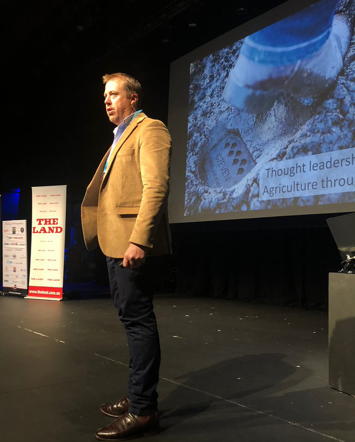 Adam Arndell, C7EVEN Communications presenting 'Thought Leadership in Agriculture through PR'
