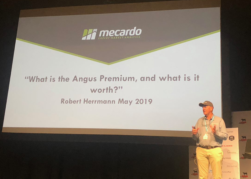Robert Herrmann, Mecardo presenting 'What is the Angus Premium and what it worth'