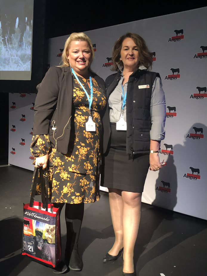 Robyn Brazier, Marketing Assistant Angus Australia with Sue Cannon, The Land