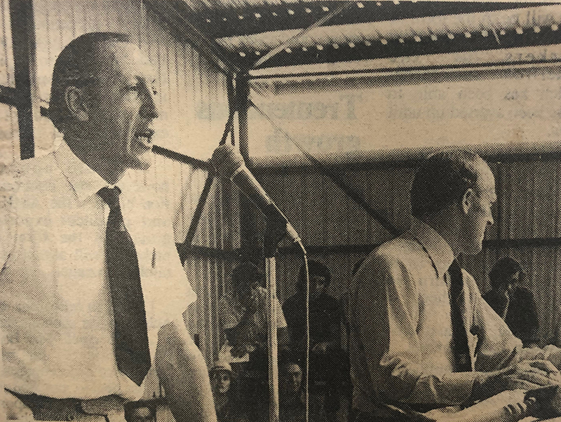 Mr Roley Fraser auctioning at the 1978 Suzuki Angus Beef Classic- Stock Journal March 16 1978