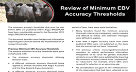 Review of Minimum EBV Accuracy  Thresholds