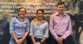 2018 Scholarship Recipients - Jack Laurie, Laura Wishart & Emily Webb Ware