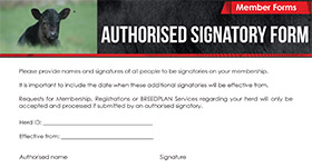 Authorised Signatory Form