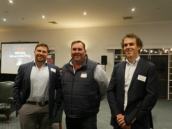 Jock Munro, Andrew Bodycoat and Lachlan Ayoub