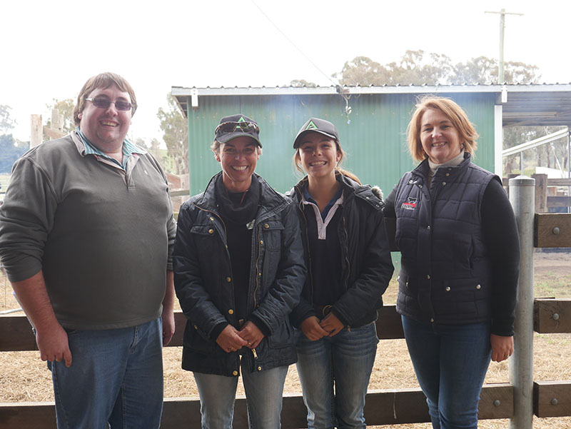 Angus Australia's Kelso Looker and Robyn Brazier, with Erica & Maggie Halliday (centre)