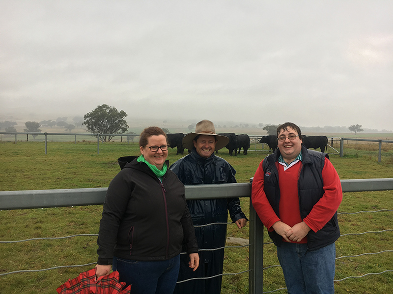Angus Australia's Robyn Kelly & Kelso Looker, with Chris Patterson (centre).