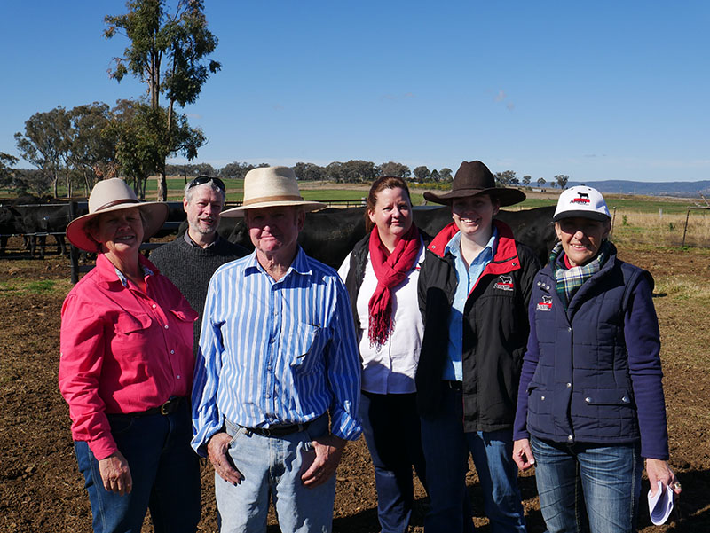 Glynis and Brian Turner, with Angus Australia's Mark Evered, Robyn Kelly, Dam Hamilton & Lou Wood