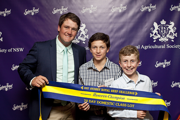 RAS Domestic Team Res Champion Will & Lachie Mayne (Texas Angus) Ben Hiscox (Bob Jamieson Agencies)