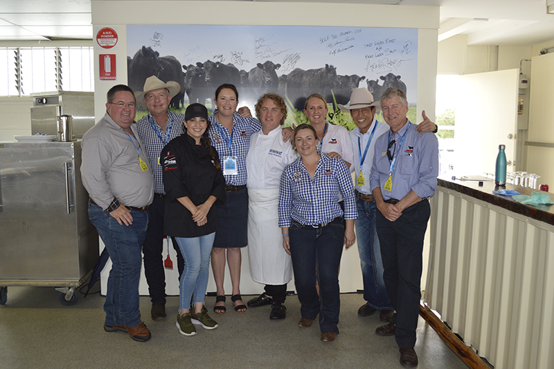 Angus Australia and NH Foods Australia staff with Adrian Richardson and Jess Pryles