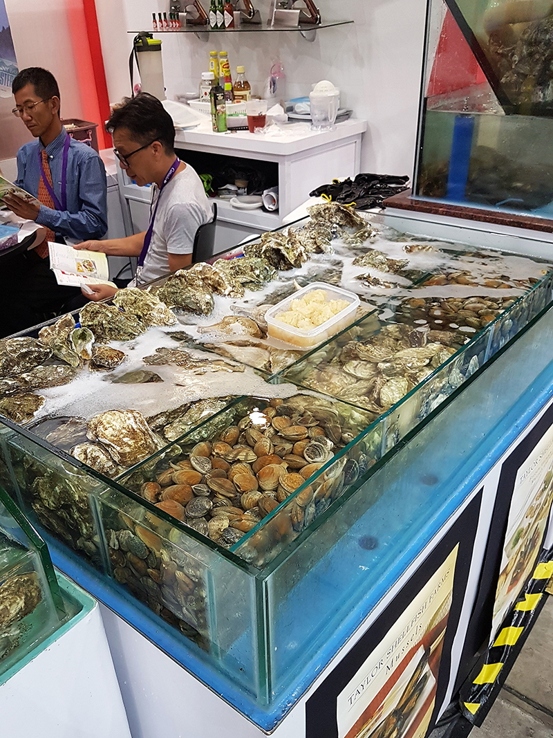 Seafood on display at FHA 2018 Singapore