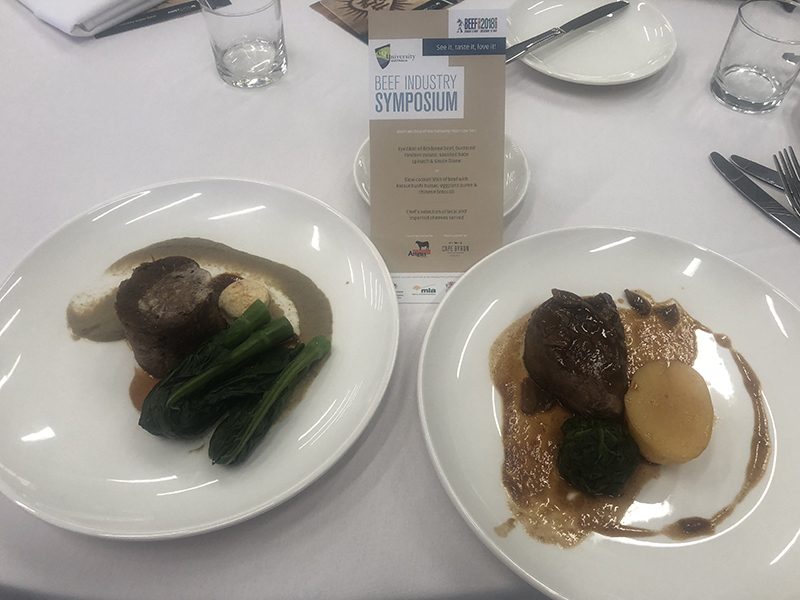 Bindaree Beef joined with Angus Australia to provide Cape Byron Angus for the Beef Symposium lunch