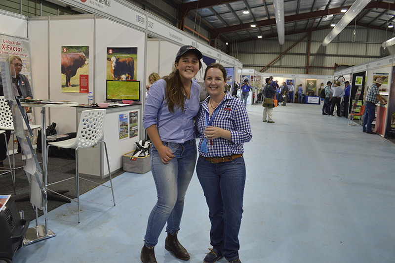 Scholarship winner Emily Webb-Ware with Events & Angus Youth Development Officer Candice Liddle