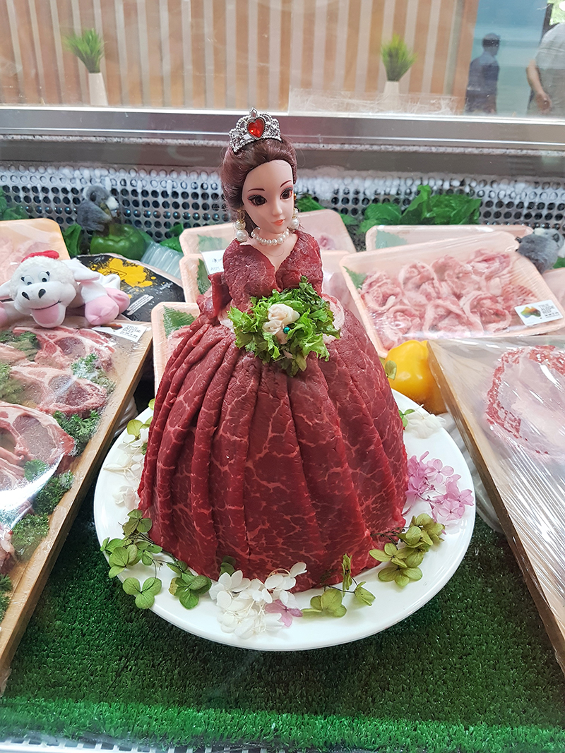 MLA Trade stand meat display cabinet