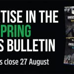 Advertise in the 2018 Spring Bulletin