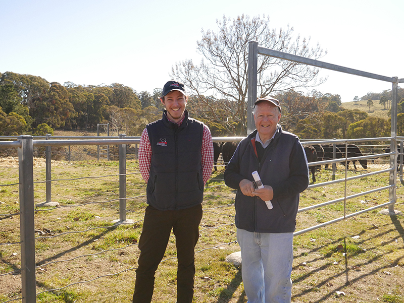 Kilburnie Angus - David Murray and Angus Australia's Matthew Reynolds