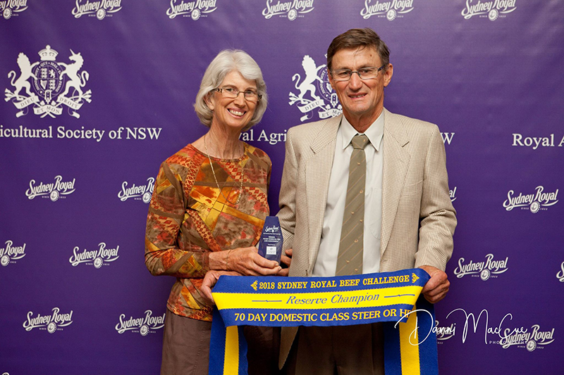 Linda & Trevor Rissman with their 70 Day Domestic Team Reserve Champion award