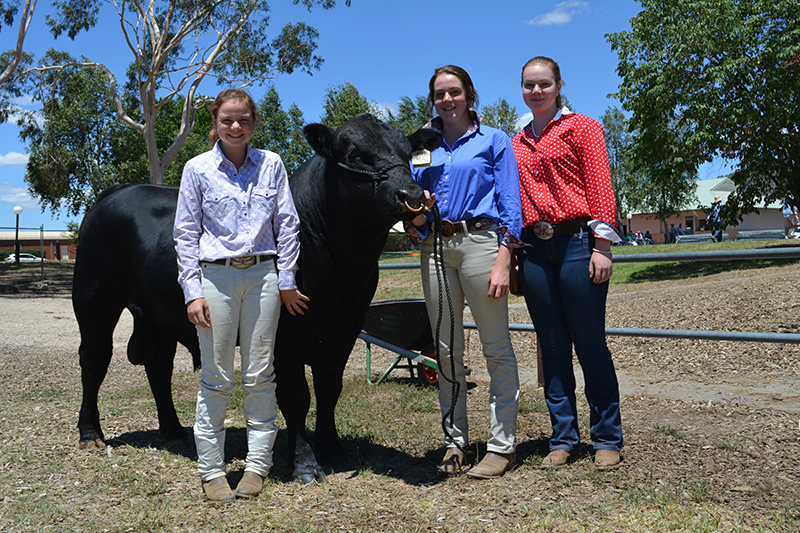 Hannah Cargill, pictured centre, with sisters Zoe & Sophie, 2018 Thomas Foods International. Image credit: The Land