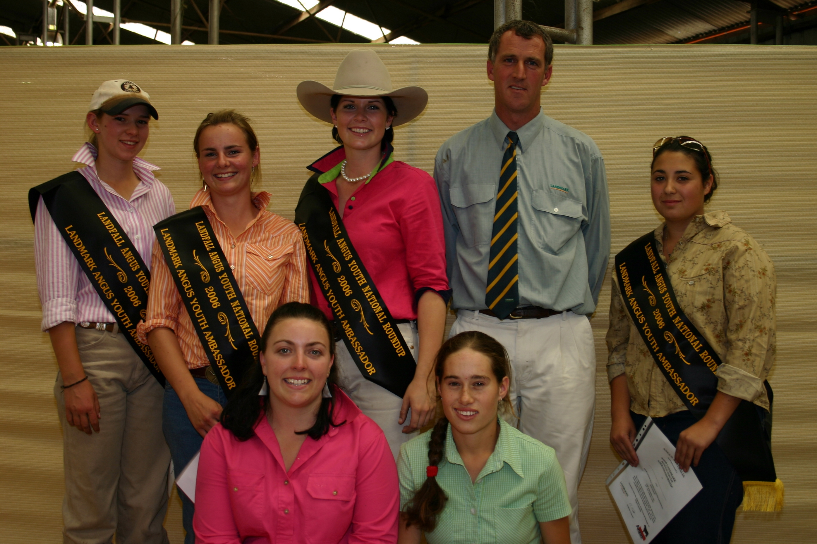 The 2006 Landmark Angus Youth Ambassadors pictured at Roundup 2006 in Hamilton Victoria
