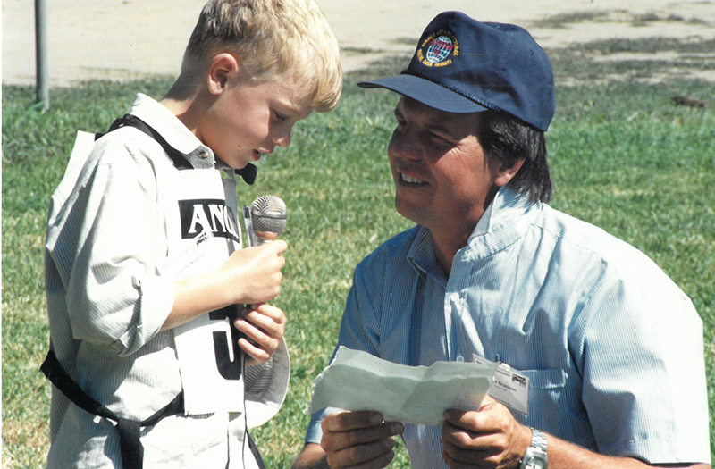 Sandy Klarner with Stephen Branson (2011) at the 1998 Roundup in Bathurst