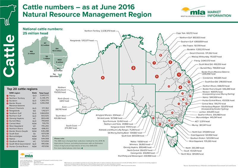 2016 MLA cattle numbers map - MLA https://www.mla.com.au/