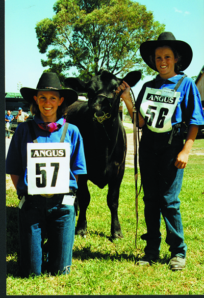 Diana Wood (nee McLeish) and Bindi Marshall (nee McLeish) at the 1998 Roundup in Bathurst NSW