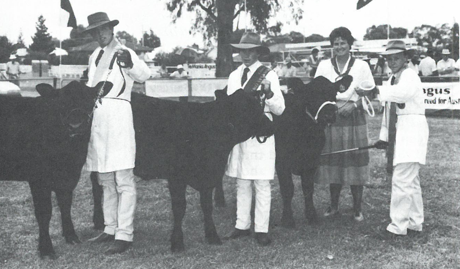 Andrew Raff (left) at the 1989 National Junior Angus Heifer Show and Herdsman Contest