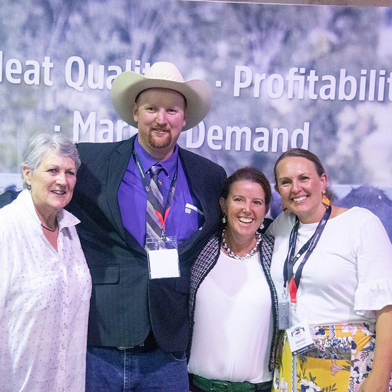 Carol Grylls, Tim Lord, Annie Scott and Diana Wood at the 2019 Sydney Royal Angus Function
