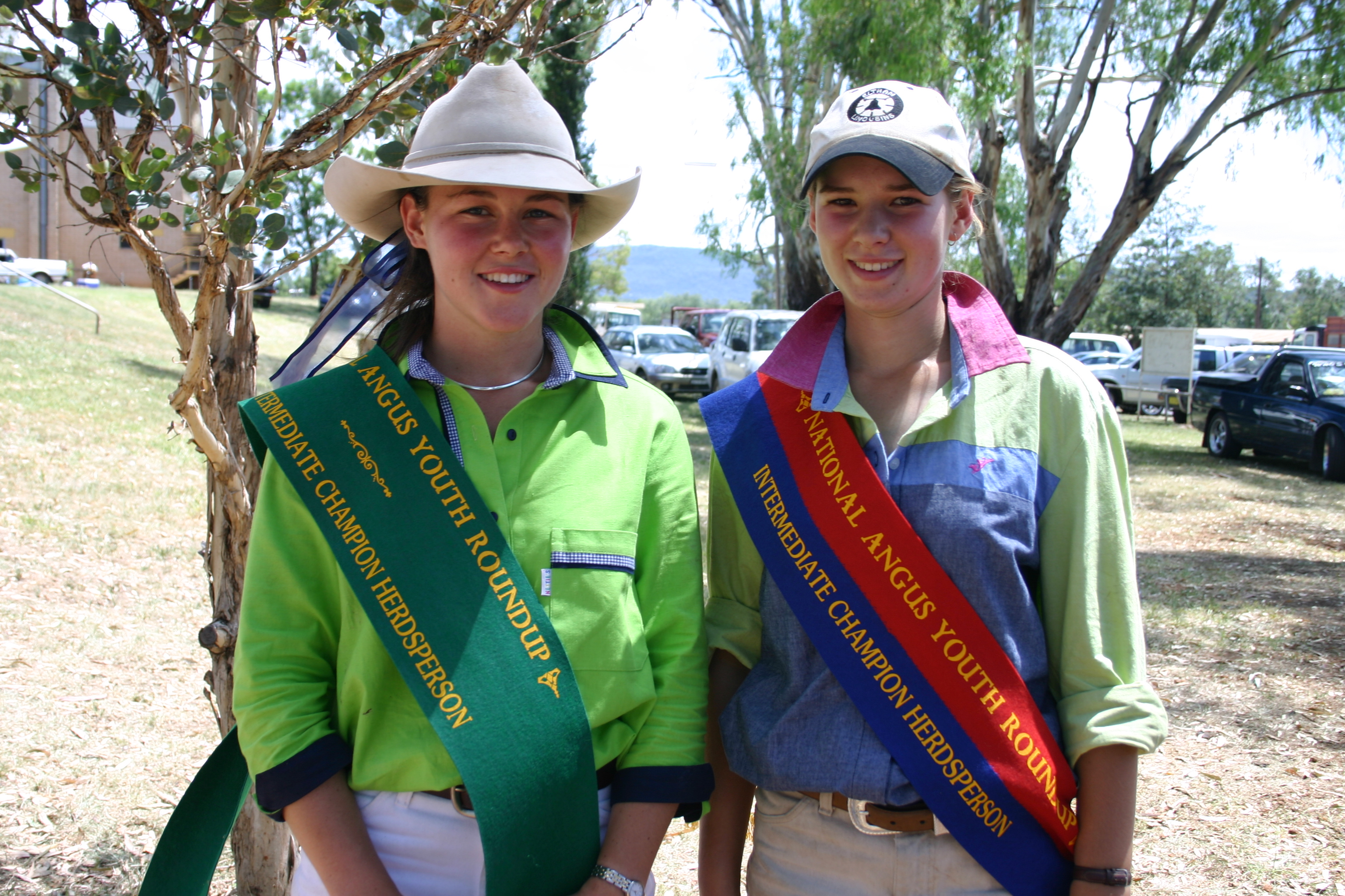 Jasmine Green (nee Nixon) (right) pictured at the 2005 Angus Youth National Roundup