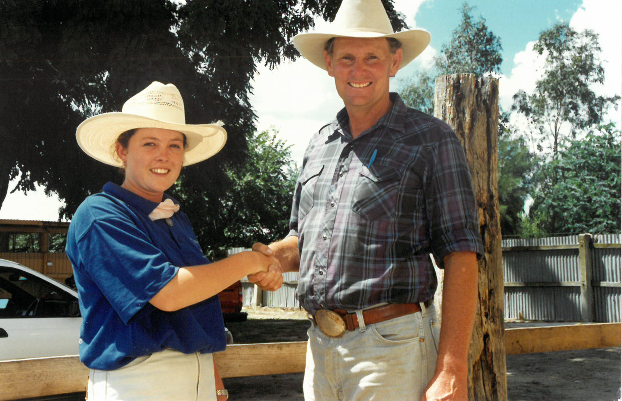 Ewen McLeish with 2001 University of Illinois Scholarship winner Donna Robson, (nee Knox)