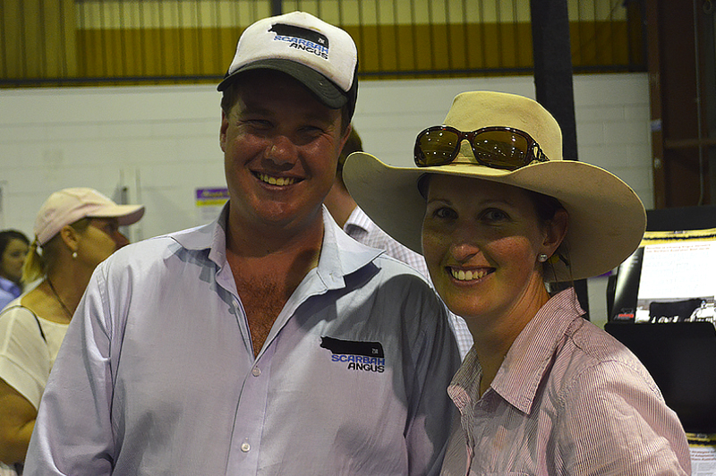 Zac McInerney & Eliza Borschardt at Beef Australia 2015 Winner of the 2012 NZ Exchange