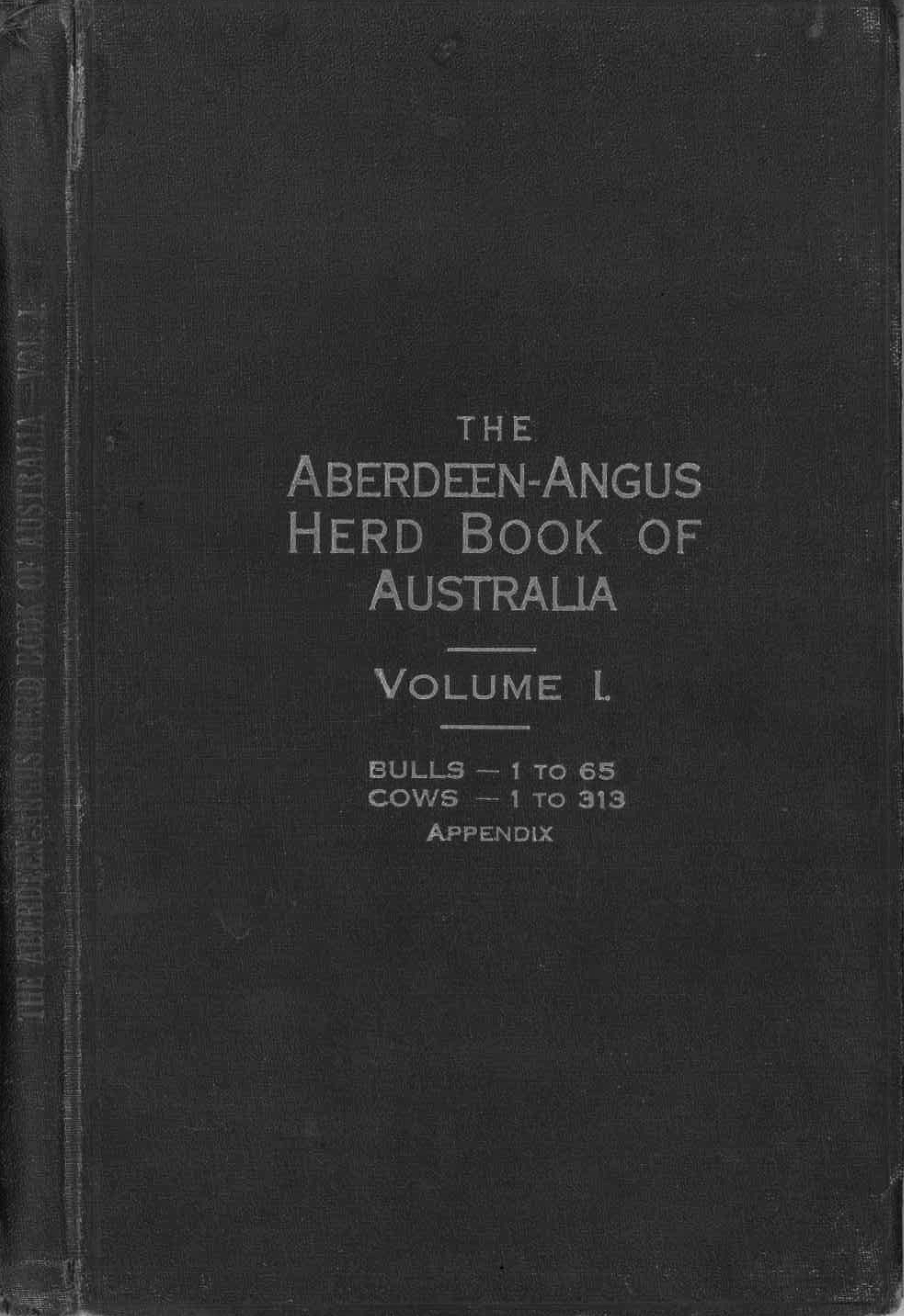 First Edition of the Abeerdeen-Angus Herd Book