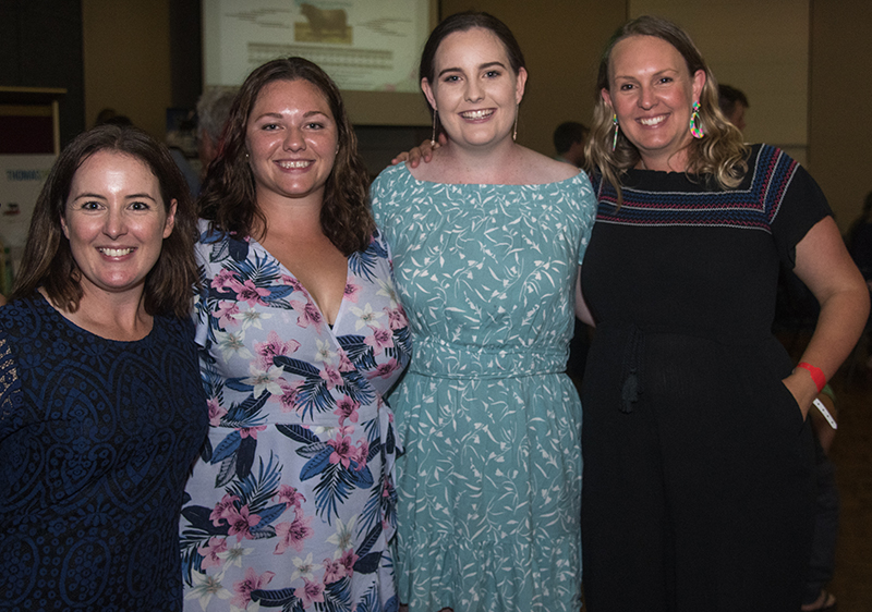 Angus Australia's marketing team - Candice Liddle, Event & Youth Development Officer, Ebonie Sadler-Small, Graphics & Multimedia Officer, Cheyne Twist, Communications Officer & Diana Wood, Marketing & Communications Manager.