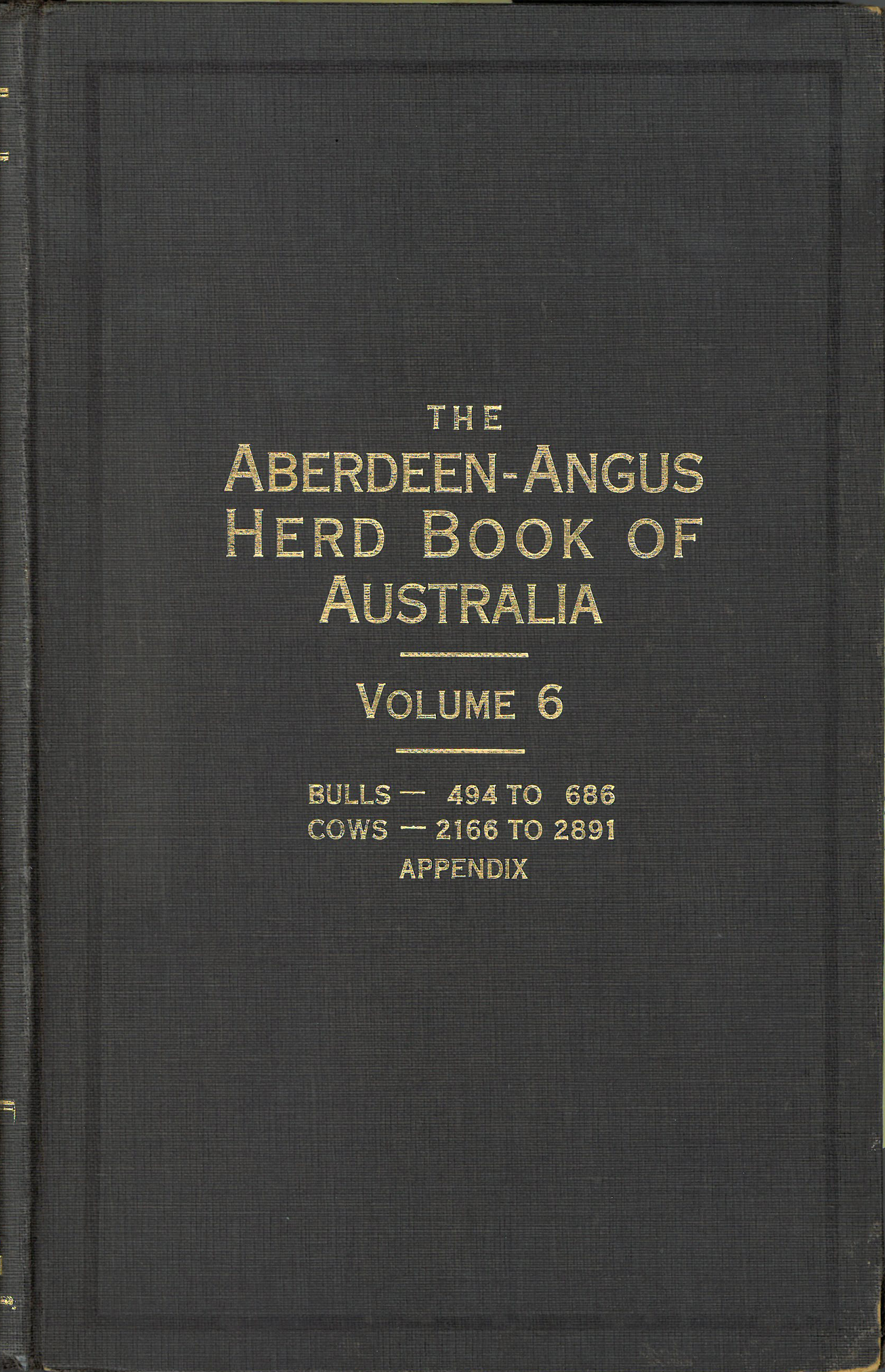 The Aberdeen-Angus Herd Book 6 Cover