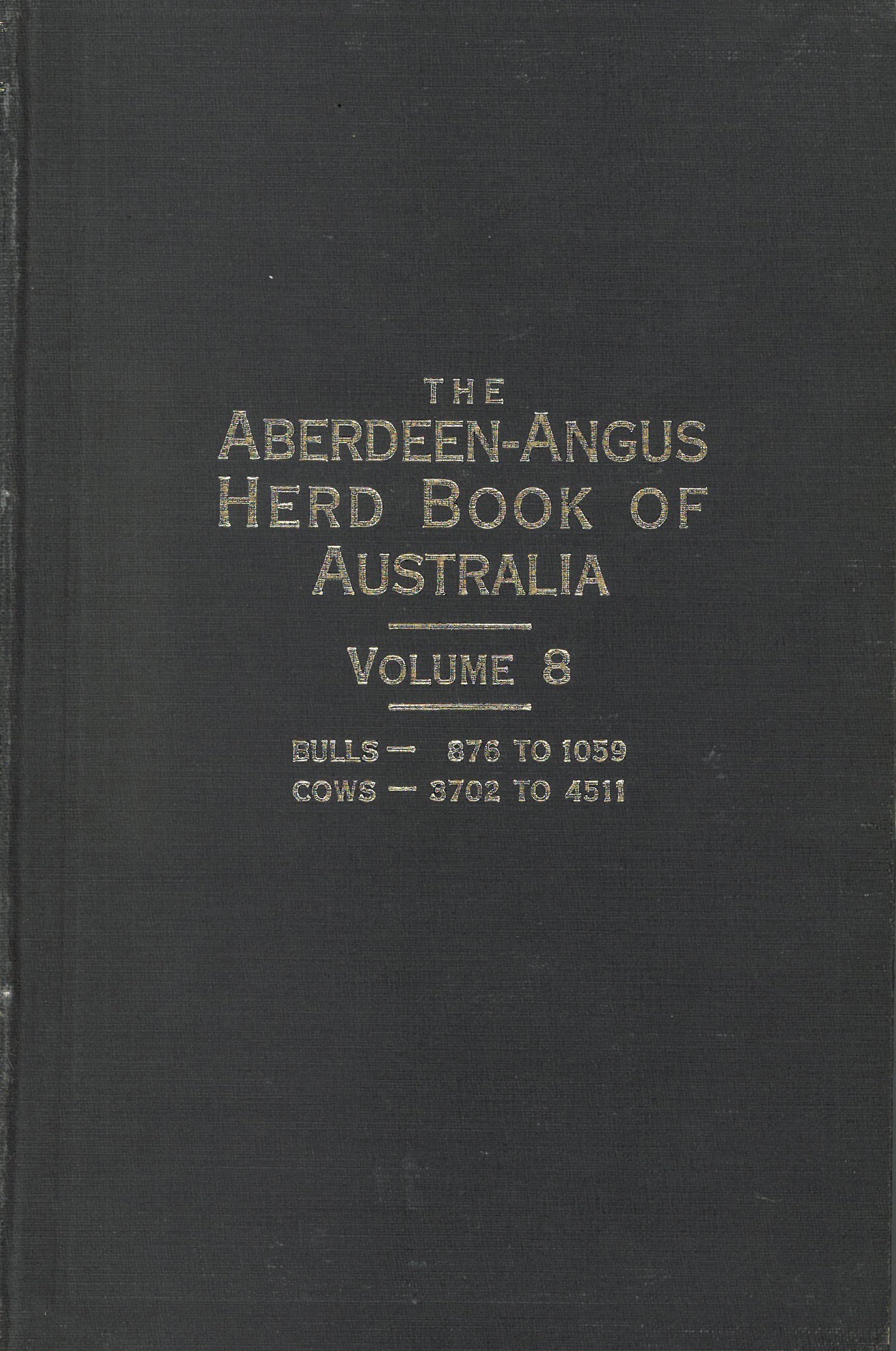 The Aberdeen-Angus Herd Book 8 Cover