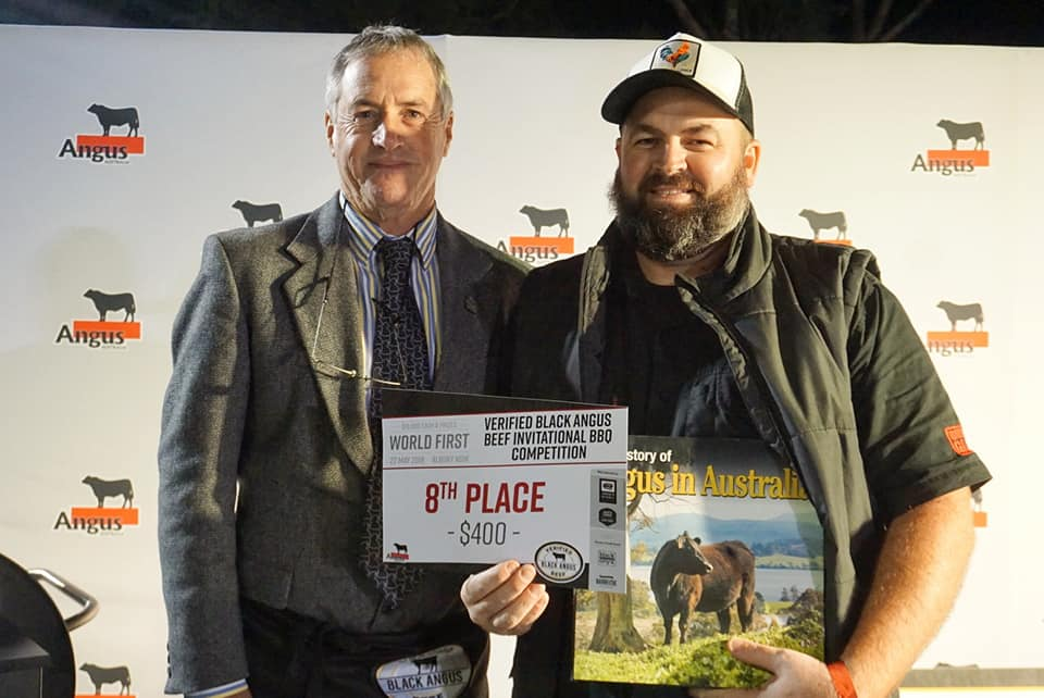 Eighth Place Piggy with Angus Australia President Brad Gilmour