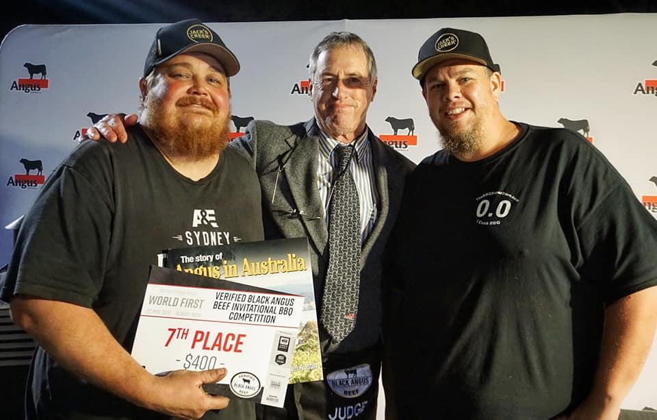Seventh Place Rollin Smoke BBQ with Angus Australia President Brad Gilmour