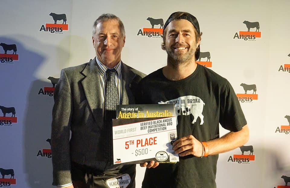 Fifth Place Smokin Hot 'N Saucy with Angus Australia President Brad Gilmour
