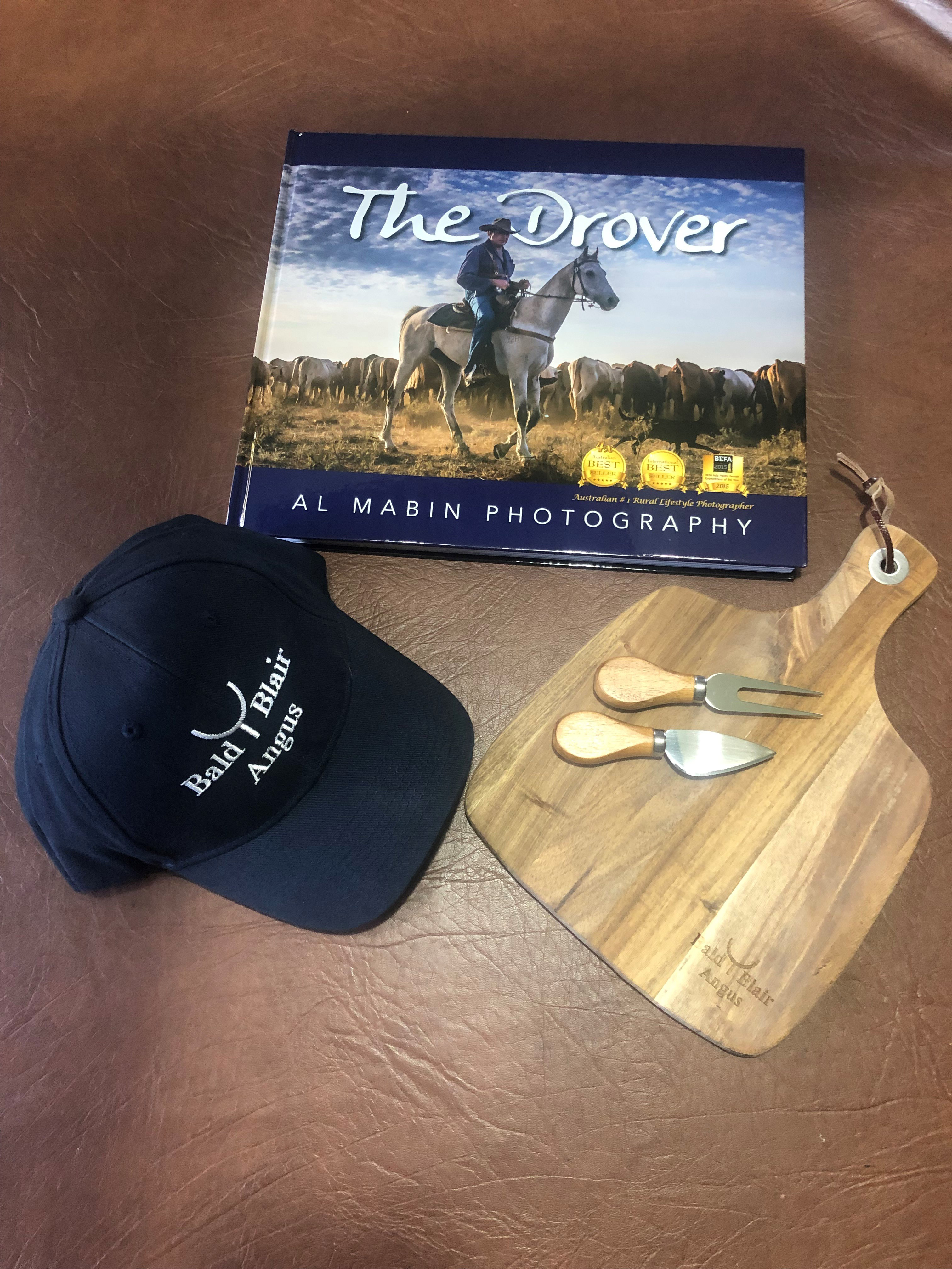 The Drover Book and Bald Blair Cheese Board