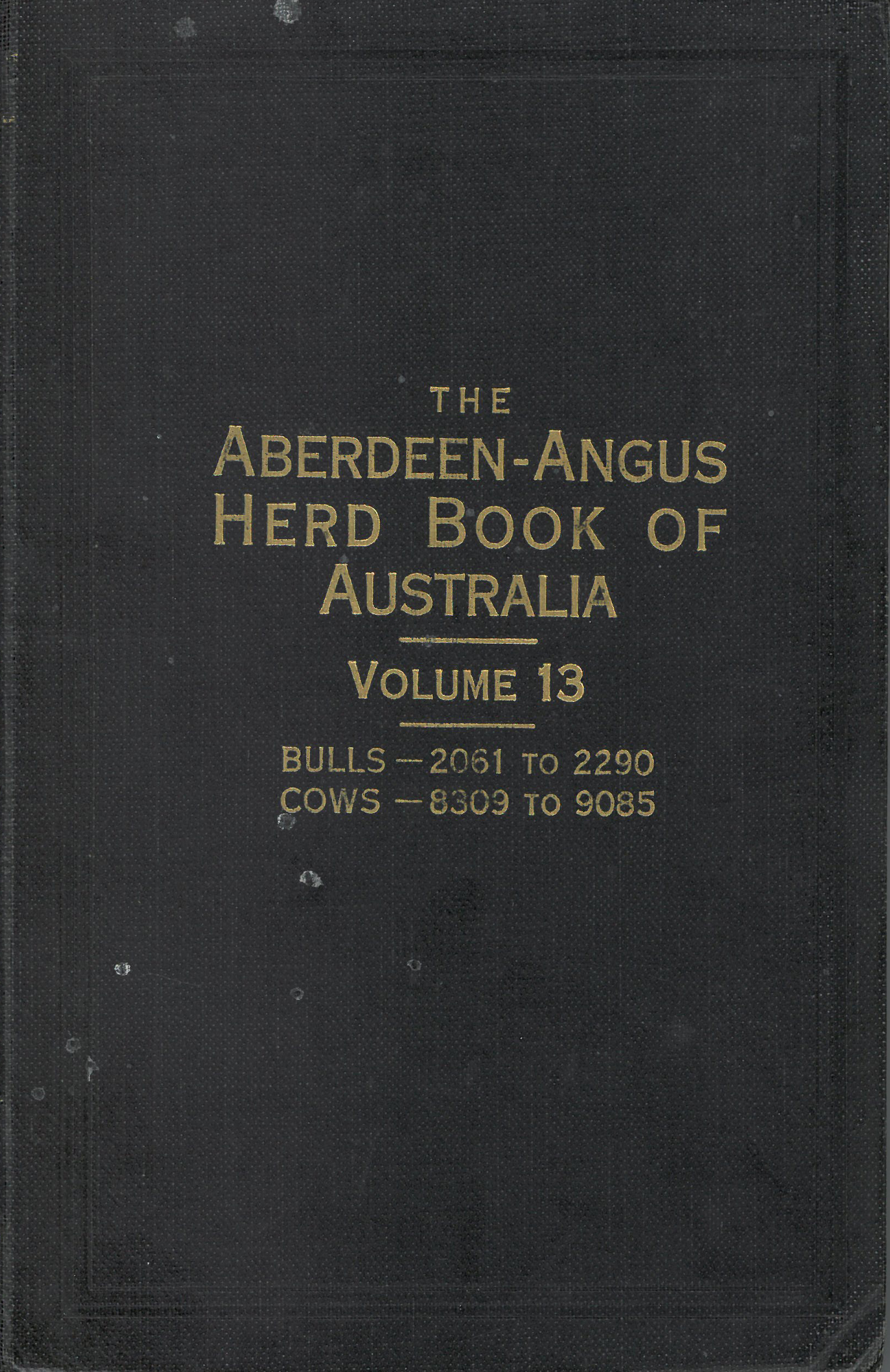 The Aberdeen-Angus Herd Book 13 Cover