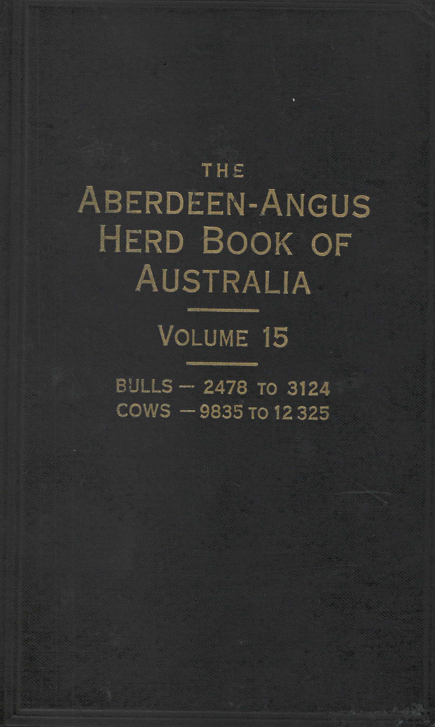 The Aberdeen-Angus Herd Book 15 Cover
